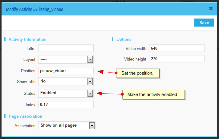 How to upload videos for a listing and show them in single